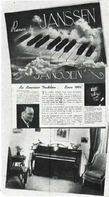 Janssen Piano Company Piano Library Lindeblad Piano