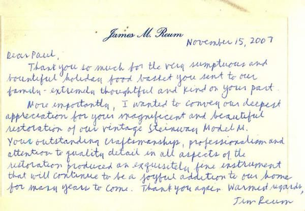 Letter from Jim Reum