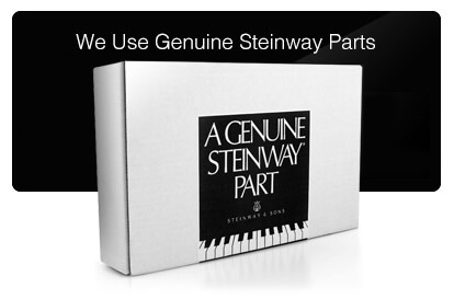 We Use Genuine Steinway Parts